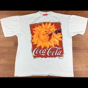 Vintage 1995 Coca-Cola Sun Drinking Coca-Cola